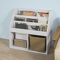 Haotian KMB01-W, White Children Kids Bookcase Book Shelf Storage Display Rack Organizer Holder