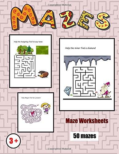 Download Maze Worksheets: 50 black and white maze challenges for preschool children (Volume 2) pdf