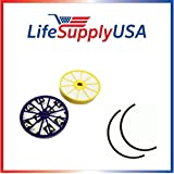 Replacement for Dyson DC07 Washable Lifetime DYR-1810, Includes Both Pre and Post Motor HEPA Filters 901420-02 904979-02 with Rubber Seals by LifeSupplyUSA