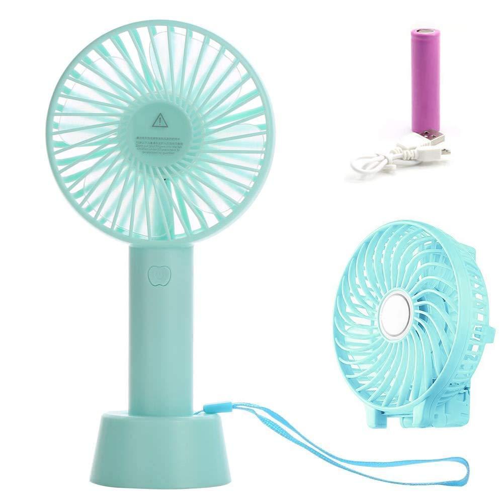 Petit Ventilateur /à Main Portable LAPOPNUT Mini Ventilateur de Bureau USB Silencieux 3 Vitesse R/églable pour Office Maison Voyage Rose Ventilo de Table Fan Pliable avec Rechargeable Batterie