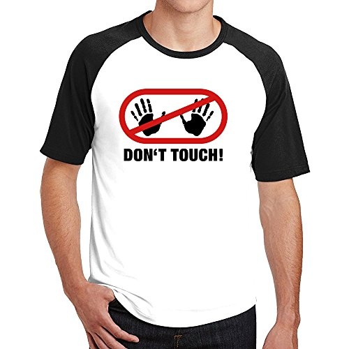 Dont Touch Hot Cotton Mens Raglan T - Celeb Hot Men