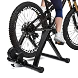 KingSo Bike Trainer Stand Steel Bicycle Exercise Magnetic Stand with Noise Reduction Wheel Bike Stationary Workout Trainer Stand