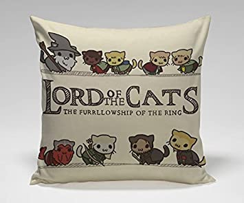 Amy Like Pillowcases Lord of the Cats Parody Movie Parody Movie Lord of the Ring Pillow