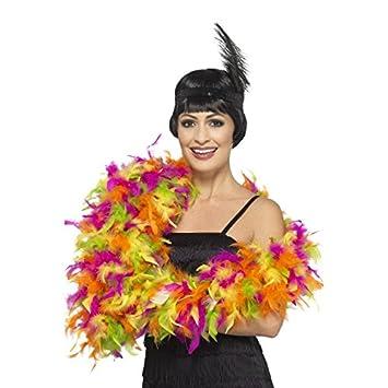 Fancy Dress Four Less Feather Boa - Disfraz de mujer de lujo, 50 g y 80 g, 150 – 180 cm, estilo burlesque, accesorio para disfraz de Charleston 150 - 180 cm