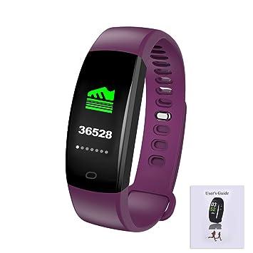 F64HR Bluetooth Pulsera Inteligente IP68 Monitor de Actividad de detección de Ritmo cardíaco Presión Arterial Oxígeno Monitoreo de múltiples Modos de ...