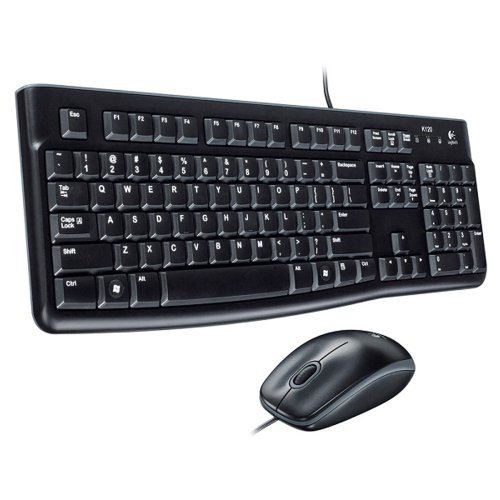Logitech MK120 Wired Slim Keyboard With Optical Mouse