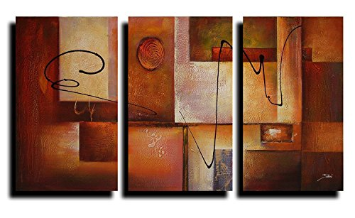 dark brown Geometric Graphes oil painting wall art Painting The Picture