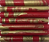 Red / Gold Swirl Flexible Glue Gun Sealing Wax - 7 Sticks