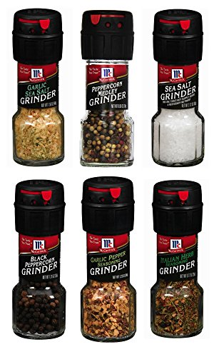 (Assorted McCormick Spice Grinder Variety Pack, 6 count)