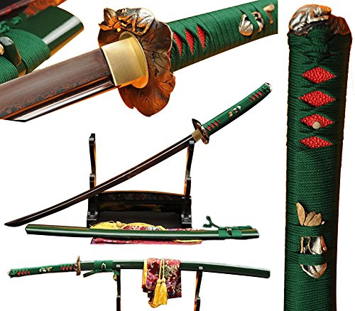 - Lyuesword Japanese Handmade Samurai Katana Folded Steel Martial Arts Sword Katana Real
