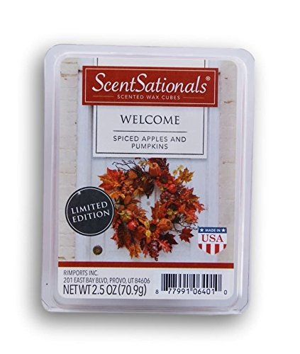 Welcome Apple - ScentSationals Welcome Apple and Pumpkin Wax Cubes - 2017 Limited Edition