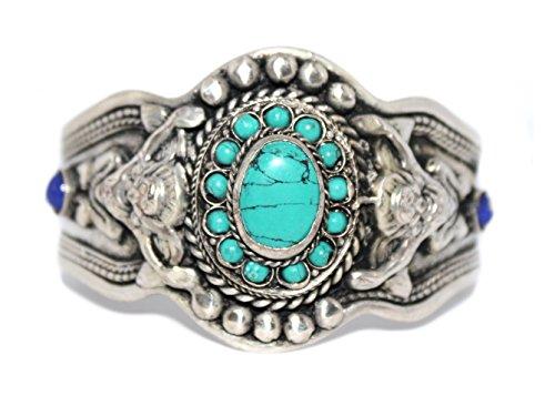 Cuff Bracelet, Turquoise Bracelet, Boho Bracelet, Tibetan Bracelet, Nepal Bracelet, Yoga Bracelet BB200