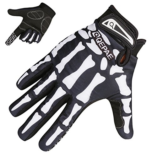 TRIWONDER Cycling Gloves Mountain Road Biking Riding Gloves Breathable Wear-Resisting Shock-Absorbing for Men and Women (Black - Full Finger, S)
