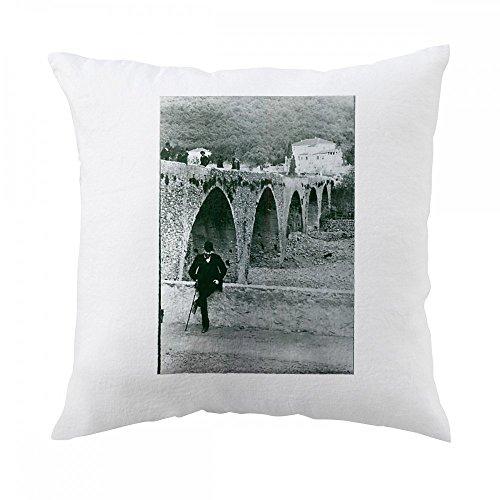 Alfred Nobel in San Remo Pillow Cover (San Remo Sofa)
