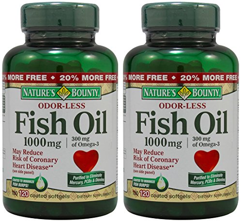 Nature s bounty fish oil odorless 1000 mg 240 softgels for Pro omega fish oil