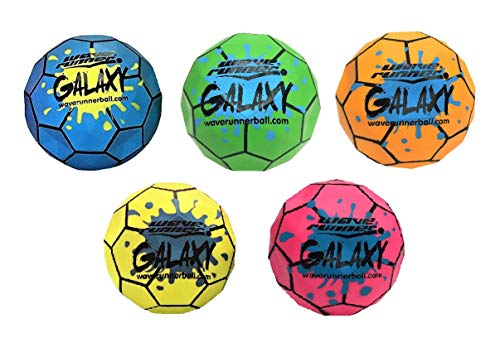 Wave Runner Galaxy Ball #1 Water Ball for Skipping and Bouncing The Perfect Pool Ball and Ocean Ball (6-Pack)
