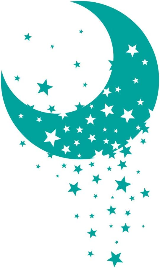 azutura Twinkle Star Moon Nursery Wall Sticker available in 5 Sizes and 25 Colours Violet
