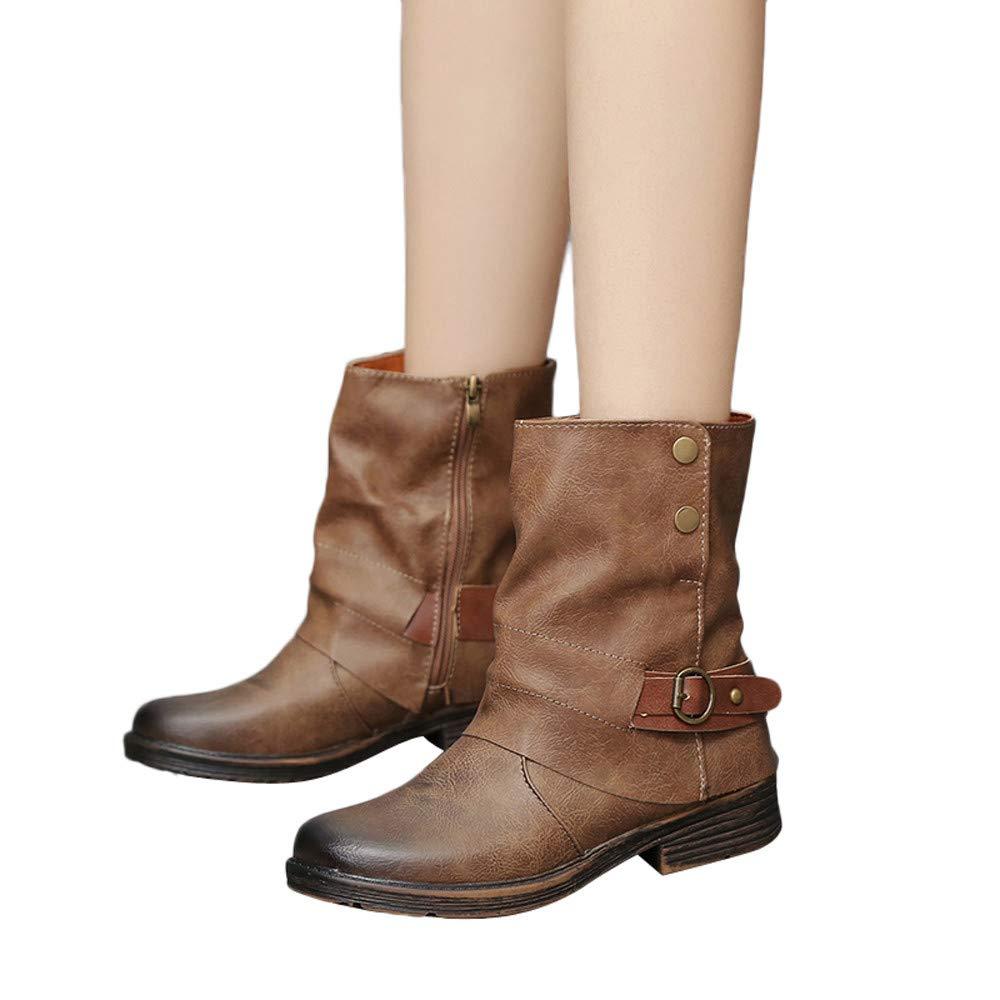 Kinrui Women Shoes DRESS レディース B07J63G537  ブラウン US:6.5-7.0