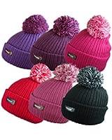 ladies winter pom pom ski hats thinsulate thermal hat