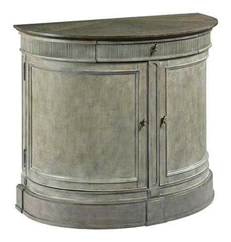 American Drew Savona Demilune Bachelor Chest in Versaille w Elm Top (Versailles Chest Accent)