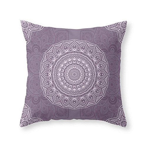 """crystars White Lace On Lavender Throw Pillow Indoor Cover (18"""" x 18"""")"""