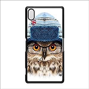 Owl with Hat Black Hard Plastic Case for Sony? Xperia Z2 by Gangtoyz + FREE Crystal Clear Screen Protector