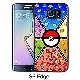 Fashion Designed Pokemon 22 Black Samsung Galaxy S6 Edge Phone Case