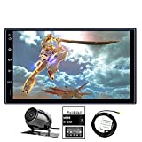 Panlelo S2AM Android 6.0 Car Stereo 1GB RAM 16GB ROM Quad Core Auto Radio AM/FM/RDS Head Unit 2 Din 7 inch 1024600 1080P HD Touch Screen Mirror Link BT SWC