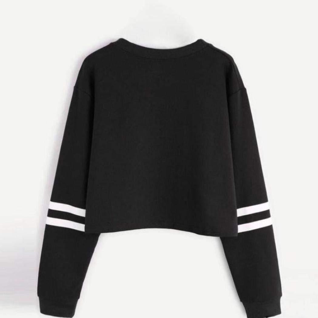 MEIbax Mujeres Casual Manga Larga Estampado suéter Escudo Sudadera Tops Blusa: Amazon.es: Ropa y accesorios