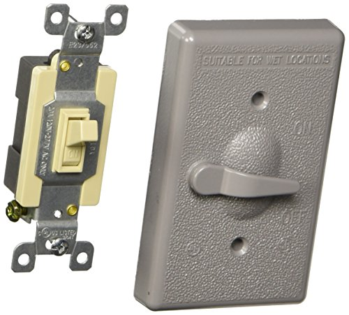 Hubbell-Bell 5128-0 1-Gang Vertical Lever Switch Weatherproof Cover