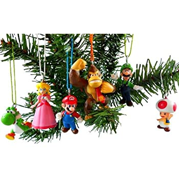 Super Mario Brothers Christmas Ornaments Figurines Pack of 6 - Amazon.com: Super Mario Brothers Christmas Ornaments Figurines Pack