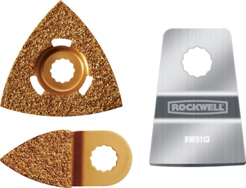 Rockwell RW9175K Paint Removal Kit for SonicCrafter (includes 1 Scraper and 2 Rasps) by Rockwell