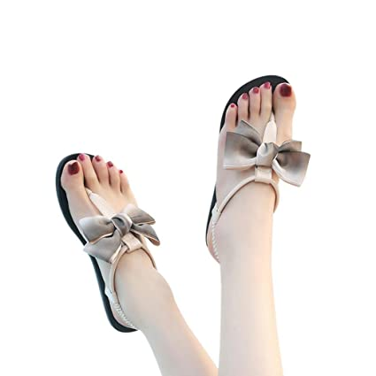1a1a6f522f209 Amazon.com  Gyoume Flat Sandals Slippers