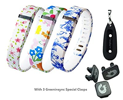 Greeninsync Holder Case for Fitbit Flex, Carry Your Active/Sleep Tracker in Your Key Chain and Necklace