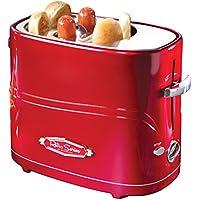 Nostalgia HDT600RETRORED Retro Pop-Up Hot Dog Toaster,...