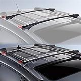 ROKIOTOEX Roof Rack Crossbars fit TOYOTA RAV4 W/Roof Rails 2014-2018 XLE Limited Side Rail Cross Bars with Lock & Key (Black)