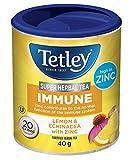 Tetley Super Herbal Tea Immune: Lemon and Echinacea with Zinc- 20 Count