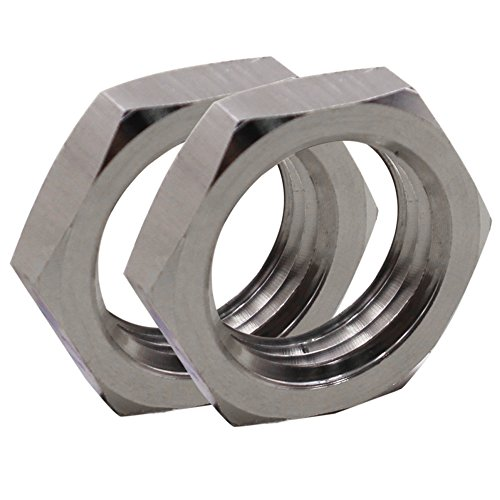 (Dernord Cast Pipe Fitting Stainless Steel 304 Hex Locknut 1/2 Inch NPT Female (Pack of)