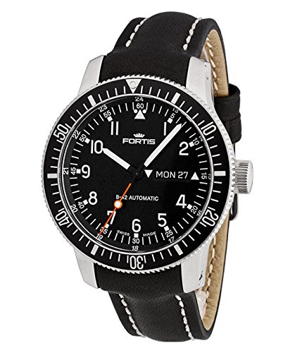 fortis-official-cosmonauts-automatic-black-dial-black-leather-mens-mens-watch-6471011l01