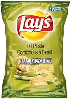 product image for Canadian Lays Dill Pickle Flavour Chips [3 Large Bags] by Lay's