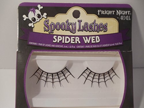Fright Night Spooky Lashes Spider Web (Web Glitter Spider Witch)