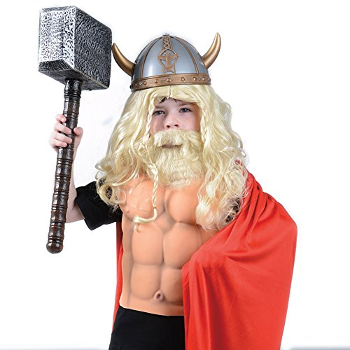 One Viking Wig & Beard Set -