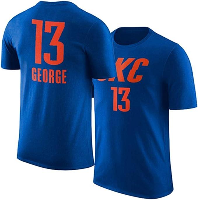 Camiseta NBA Oklahoma City Thunder Paul George OKC Fans De Manga ...