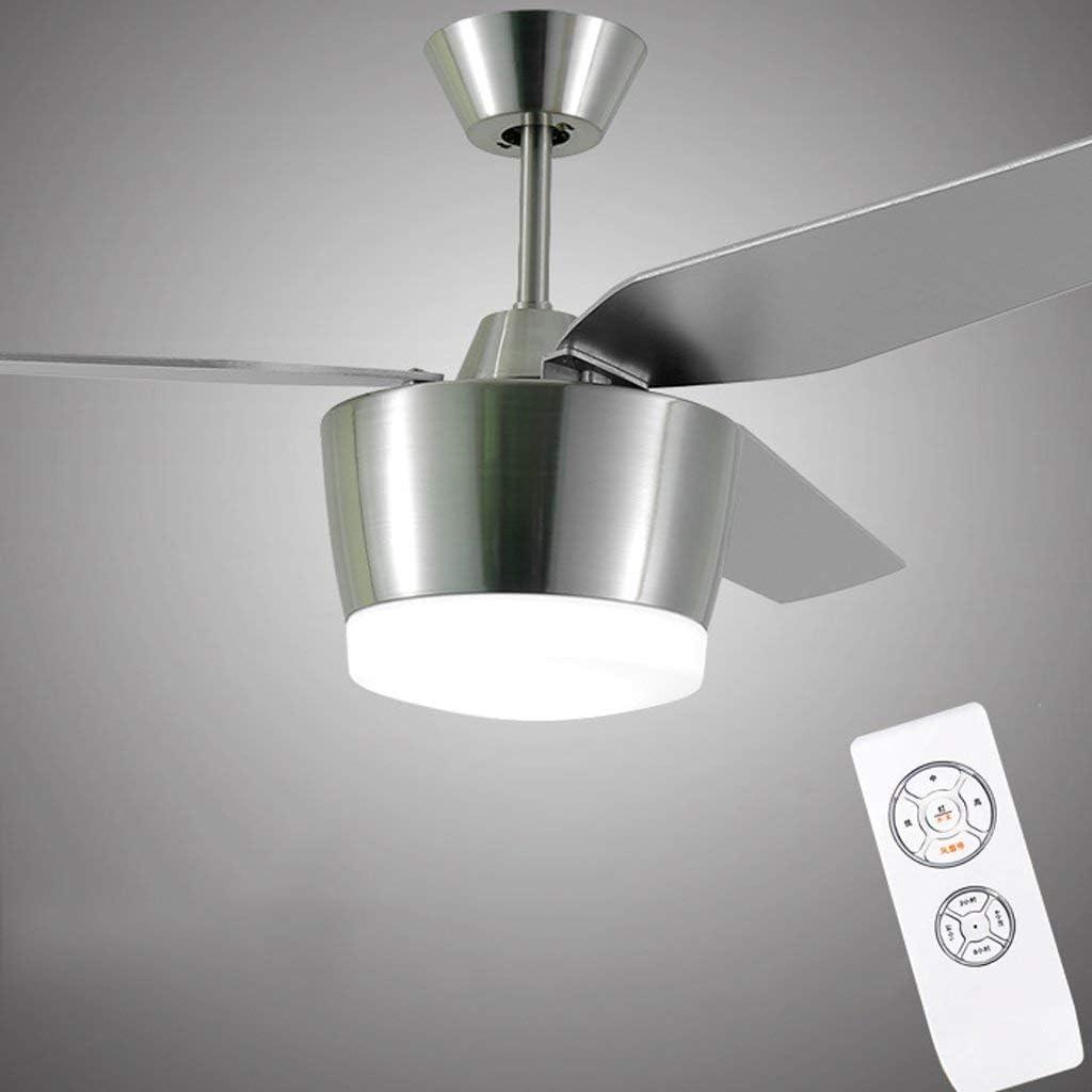 Luz de Ventilador de Techo Utilidad Familiar 42/56 Pulgadas Restaurante Minimalista Moderno Led Retro Restaurante Sala de Estar Luz de Ventilador Lámpara Industrial Alambre de Cobre Puro Motor Garant