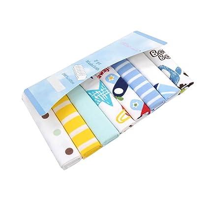 CuteOn Paquete de 8 Súper Suave Bebé Washcloth Alimentación Limpiar Paño para Recién nacido Chicos &