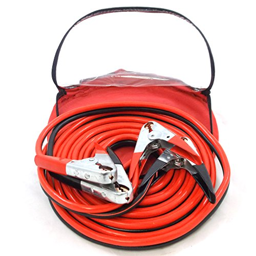 Red Hound Auto 25ft 2 Gauge Booster Jumper Cables Heavy Duty Commercial Grade 500 AMP