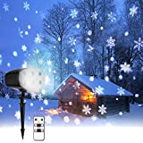 Snowflake Lights Projector, LED Projector Lights Outdoor with Remote, 9W for Party Wedding, Garden