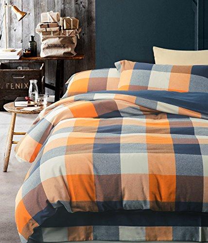 blue and orange bedding - 7