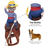 Fezrgea Pet Dog Christmas Costume Clothes Cute Cowboy Rider Style Pet Suit (M)