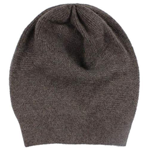 WaySoft 100% Cashmere Beanie for Women in a Gift Box, Oversized Women Beanie Hat (Driftwood)